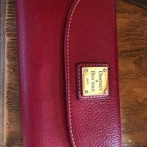Dooney and Bourke full size red wallet